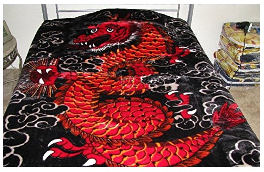Chinese Dragon Korean Mink Blanket