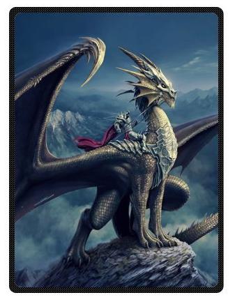 Mysterious Dragon Large Fleece Blanket