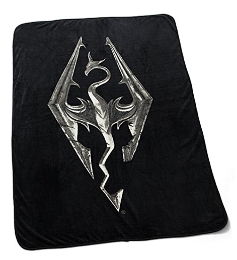 Skyrim Emblem Dragon Fleece Blanket