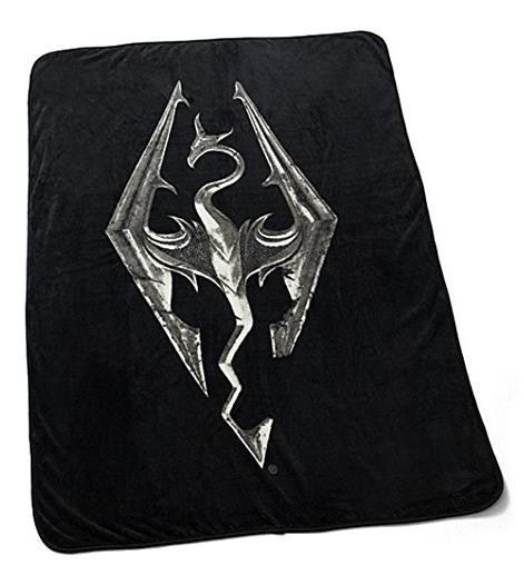 Skyrim Emblem Dragon Fleece Blanket